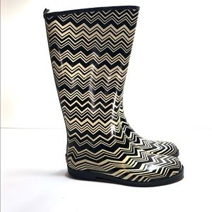 Missoni for target rubber rain boots size 9